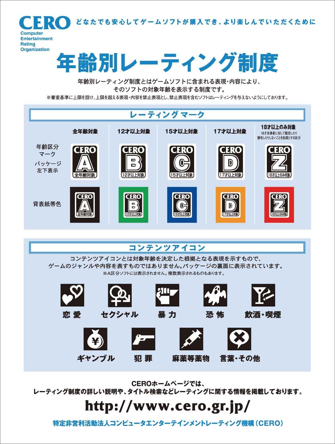 CEROレーティング17才以上対象ソフトの一覧 - JapaneseClass.jp